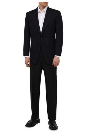 Мужской шерстяной пиджак TOM FORD темно-синего цвета, арт. 211R67/11HA40 | Фото 2