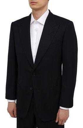 Мужской шерстяной пиджак TOM FORD темно-синего цвета, арт. 211R67/11HA40   Фото 3