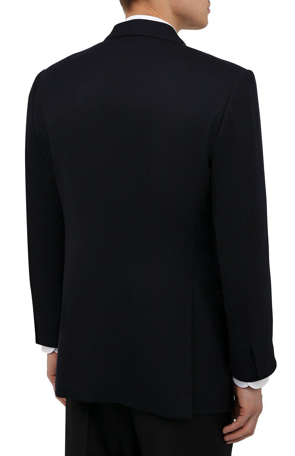 Мужской шерстяной пиджак TOM FORD темно-синего цвета, арт. 211R67/11HA40   Фото 4