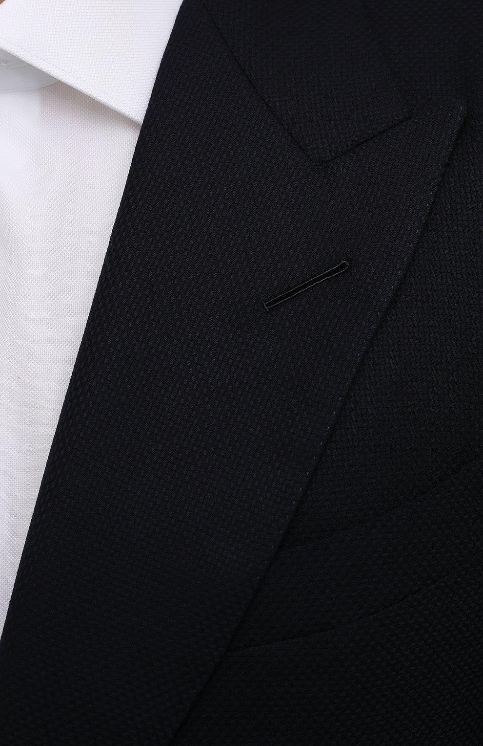 Мужской шерстяной пиджак TOM FORD темно-синего цвета, арт. 211R67/11HA40   Фото 5