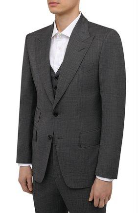 Мужской шерстяной костюм-тройка TOM FORD серого цвета, арт. 211R20/31AL43 | Фото 2