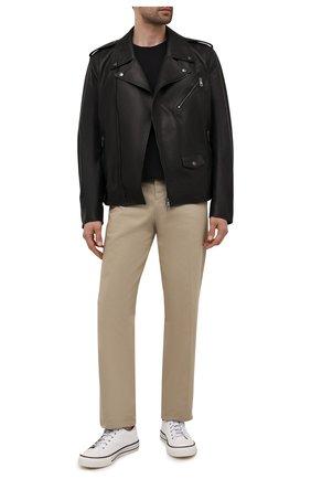Мужская кожаная куртка DOLCE & GABBANA черного цвета, арт. G9UB1L/GEU47 | Фото 2 (Длина (верхняя одежда): Короткие; Кросс-КТ: Куртка; Стили: Кэжуэл; Рукава: Длинные; Мужское Кросс-КТ: Кожа и замша; Материал подклада: Вискоза)