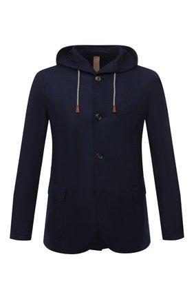 Мужской шерстяной пиджак ELEVENTY темно-синего цвета, арт. D70GIAD05 JAC24018 | Фото 1