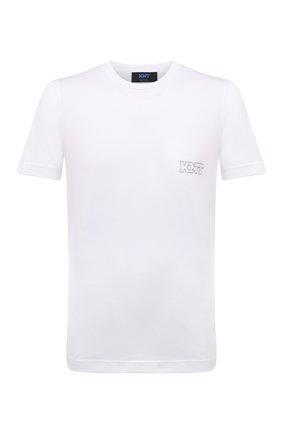 Мужская хлопковая футболка KNT белого цвета, арт. UMM0171 | Фото 1 (Длина (для топов): Стандартные; Рукава: Короткие; Материал внешний: Хлопок; Принт: Без принта; Стили: Кэжуэл)