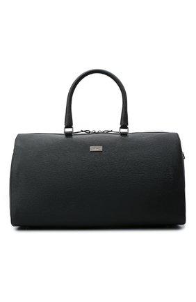 Мужская кожаная дорожная сумка KITON черного цвета, арт. UBFRIDSN00815   Фото 1