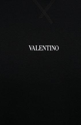 Мужской хлопковый свитшот VALENTINO черного цвета, арт. WV3MF18W7GF   Фото 5 (Мужское Кросс-КТ: свитшот-одежда; Материал внешний: Хлопок; Стили: Кэжуэл)
