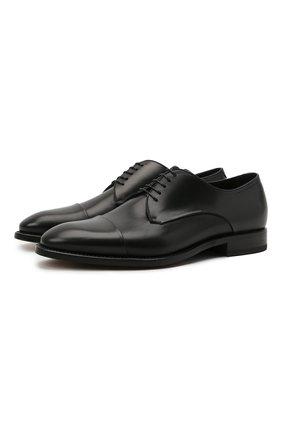 Мужские кожаные дерби W.GIBBS черного цвета, арт. 7255031/2126 | Фото 1
