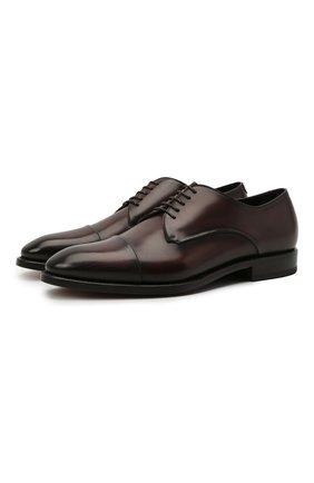 Мужские кожаные дерби W.GIBBS темно-коричневого цвета, арт. 7255031/2126 | Фото 1