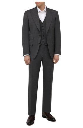 Мужские кожаные дерби W.GIBBS темно-коричневого цвета, арт. 7255031/2126 | Фото 2