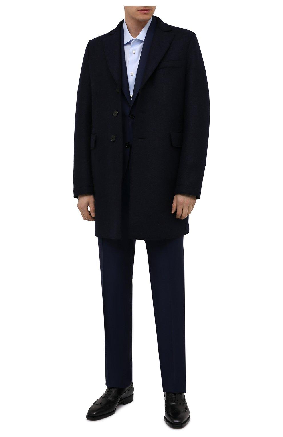Мужские кожаные оксфорды W.GIBBS черного цвета, арт. 7335001/2253   Фото 2 (Мужское Кросс-КТ: Броги-обувь; Материал внутренний: Натуральная кожа; Стили: Классический)