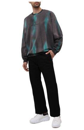 Мужской хлопковый свитшот DIESEL серого цвета, арт. A02793/0EEAA | Фото 2