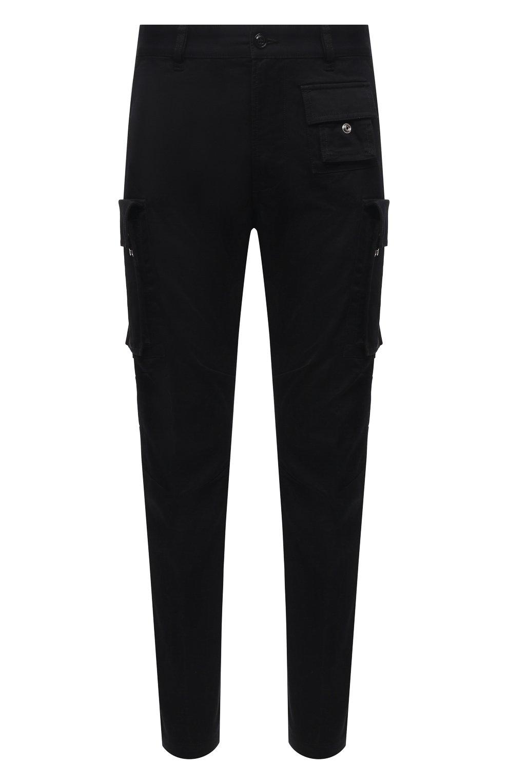 Мужские хлопковые брюки-карго DIESEL черного цвета, арт. A01681/0HCAV | Фото 1 (Силуэт М (брюки): Карго; Длина (брюки, джинсы): Стандартные; Случай: Повседневный; Стили: Гранж; Материал внешний: Хлопок)