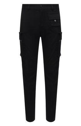 Мужские хлопковые брюки-карго DIESEL черного цвета, арт. A01681/0HCAV | Фото 1