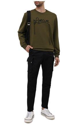 Мужские хлопковые брюки-карго DIESEL черного цвета, арт. A01681/0HCAV | Фото 2
