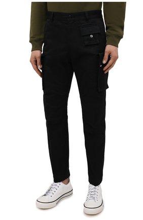 Мужские хлопковые брюки-карго DIESEL черного цвета, арт. A01681/0HCAV | Фото 3 (Силуэт М (брюки): Карго; Длина (брюки, джинсы): Стандартные; Случай: Повседневный; Стили: Гранж; Материал внешний: Хлопок)