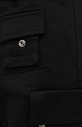 Мужские хлопковые брюки-карго DIESEL черного цвета, арт. A01681/0HCAV | Фото 5 (Силуэт М (брюки): Карго; Длина (брюки, джинсы): Стандартные; Случай: Повседневный; Стили: Гранж; Материал внешний: Хлопок)