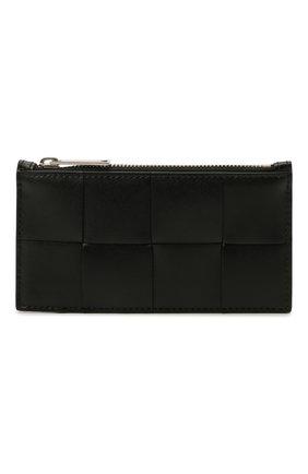 Мужской кожаный футляр для кредитных карт BOTTEGA VENETA черного цвета, арт. 667049/VBWD3 | Фото 1