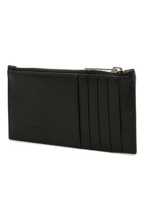Мужской кожаный футляр для кредитных карт BOTTEGA VENETA черного цвета, арт. 667049/VBWD3 | Фото 2