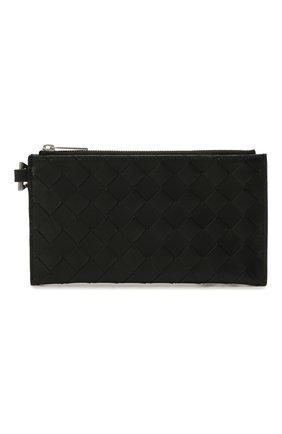 Мужской кожаный футляр для документов BOTTEGA VENETA черного цвета, арт. 667034/VCPQ3 | Фото 1