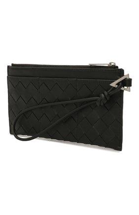 Мужской кожаный футляр для документов BOTTEGA VENETA черного цвета, арт. 667034/VCPQ3 | Фото 2