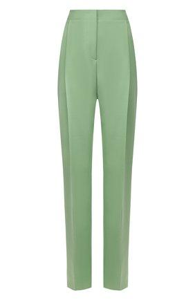 Женские брюки из шерсти и вискозы BOSS зеленого цвета, арт. 50460479 | Фото 1