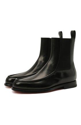 Женские кожаные ботинки SANTONI черного цвета, арт. WTQC59534BA2NBCKN01 | Фото 1