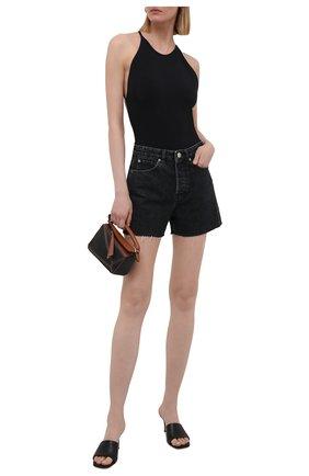 Женское хлопковое боди RAG&BONE черного цвета, арт. WCC21PT018UN18 | Фото 2