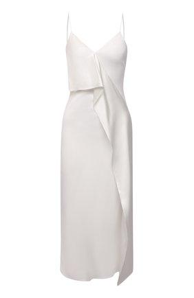 Женское шелковое платье BURBERRY белого цвета, арт. 8041046 | Фото 1