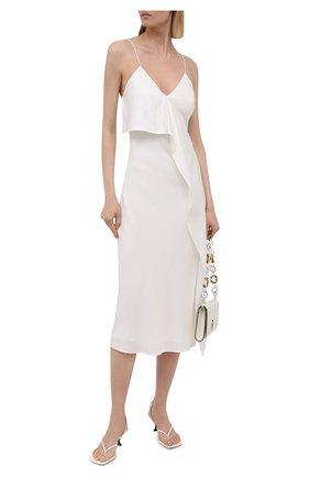 Женское шелковое платье BURBERRY белого цвета, арт. 8041046 | Фото 2
