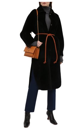 Женское меховое пальто BLANCHA черного цвета, арт. 21117/300/30/NER0/SIENA | Фото 2