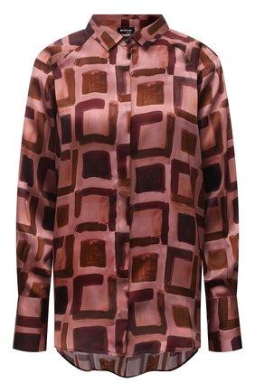 Женская шелковая рубашка KITON темно-розового цвета, арт. D52401K0591A   Фото 1