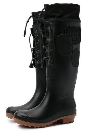 Женские резиновые сапоги DSQUARED2 черного цвета, арт. RBW0004 17204289 | Фото 1