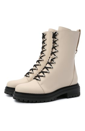 Женские кожаные ботинки SERGIO ROSSI кремвого цвета, арт. A92020-MMV120 | Фото 1