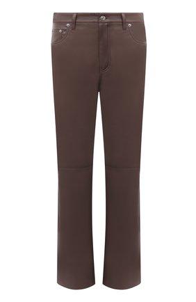 Женские брюки из экокожи NANUSHKA коричневого цвета, арт. NW21PFPA01295   Фото 1