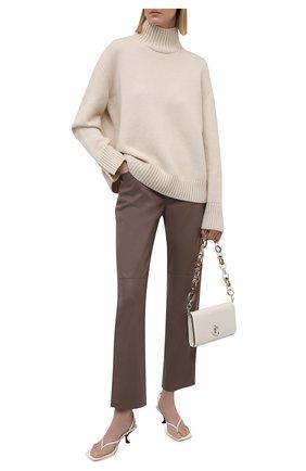 Женские брюки из экокожи NANUSHKA коричневого цвета, арт. NW21PFPA01295   Фото 2
