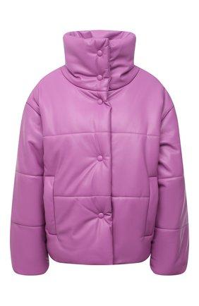 Женская утепленная куртка из экокожи NANUSHKA розового цвета, арт. NW21PF0W00232 | Фото 1