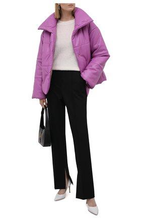 Женская утепленная куртка из экокожи NANUSHKA розового цвета, арт. NW21PF0W00232 | Фото 2