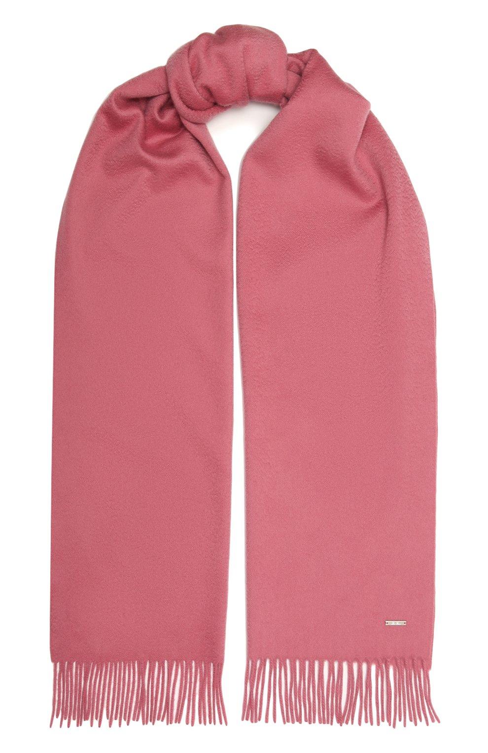 Женский кашемировый шарф grande unita LORO PIANA розового цвета, арт. FAA1056   Фото 1 (Материал: Кашемир, Шерсть)