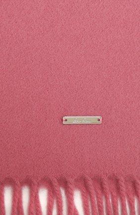 Женский кашемировый шарф grande unita LORO PIANA розового цвета, арт. FAA1056 | Фото 2