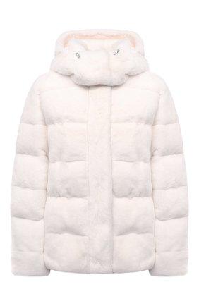Женская пуховая куртка из меха норки KITON кремвого цвета, арт. D52581X05S08   Фото 1