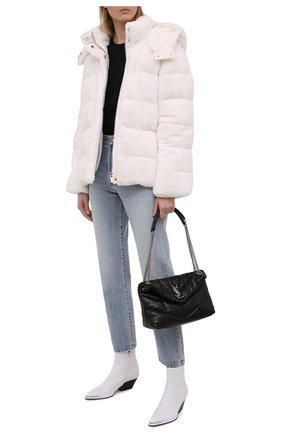 Женская пуховая куртка из меха норки KITON кремвого цвета, арт. D52581X05S08   Фото 2