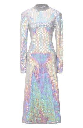 Женское платье THE ATTICO разноцветного цвета, арт. 213WCM22/PA10 | Фото 1