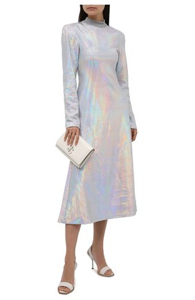 Женское платье THE ATTICO разноцветного цвета, арт. 213WCM22/PA10 | Фото 2