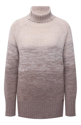 Женский свитер из шерсти и кашемира MANZONI24 коричневого цвета, арт. 21M349-XSFUM/38-46   Фото 1