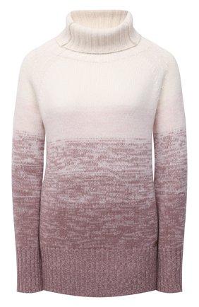 Женский свитер из шерсти и кашемира MANZONI24 розового цвета, арт. 21M349-XSFUM/38-46   Фото 1