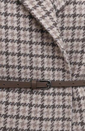 Женское кашемировое пальто MANZONI24 коричневого цвета, арт. 21M523-PDP5VXCL8/38-46 | Фото 5 (Материал внешний: Шерсть, Кашемир; Рукава: Длинные; Длина (верхняя одежда): До колена; 1-2-бортные: Однобортные; Стили: Кэжуэл)