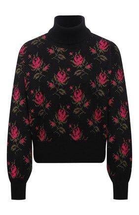 Женский свитер REDVALENTINO черного цвета, арт. WR3KC09P/642 | Фото 1 (Длина (для топов): Стандартные; Материал внешний: Синтетический материал; Рукава: Длинные; Стили: Кэжуэл; Женское Кросс-КТ: Свитер-одежда)