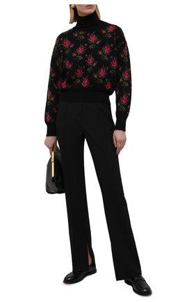 Женский свитер REDVALENTINO черного цвета, арт. WR3KC09P/642 | Фото 2 (Длина (для топов): Стандартные; Материал внешний: Синтетический материал; Рукава: Длинные; Стили: Кэжуэл; Женское Кросс-КТ: Свитер-одежда)