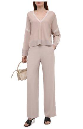 Женский шерстяной пуловер WINDSOR бежевого цвета, арт. 52 DP603 10012251 | Фото 2