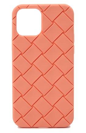 Чехол для iphone 12 BOTTEGA VENETA персикового цвета, арт. 670188/V0EY0   Фото 1